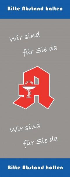 Apotheke mit Logo 70x150cm