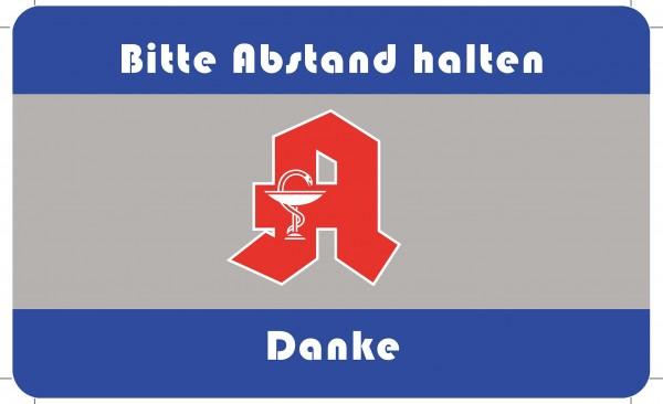 Apotheke mit Logo 45x75cm